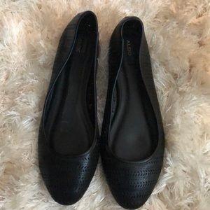 Black Aldo Flats